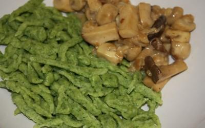 gekocht im tiefen Grün